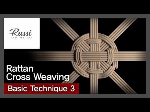 라탄 기초 米 (쌀미)바닥 엮기 [라탄공예] 취미 수업 온라인클래 3. :Rattan Craft : cross weaving basic technique,3D ,라탄 기법