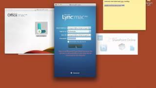 Office 365 and Mac Lync 2011