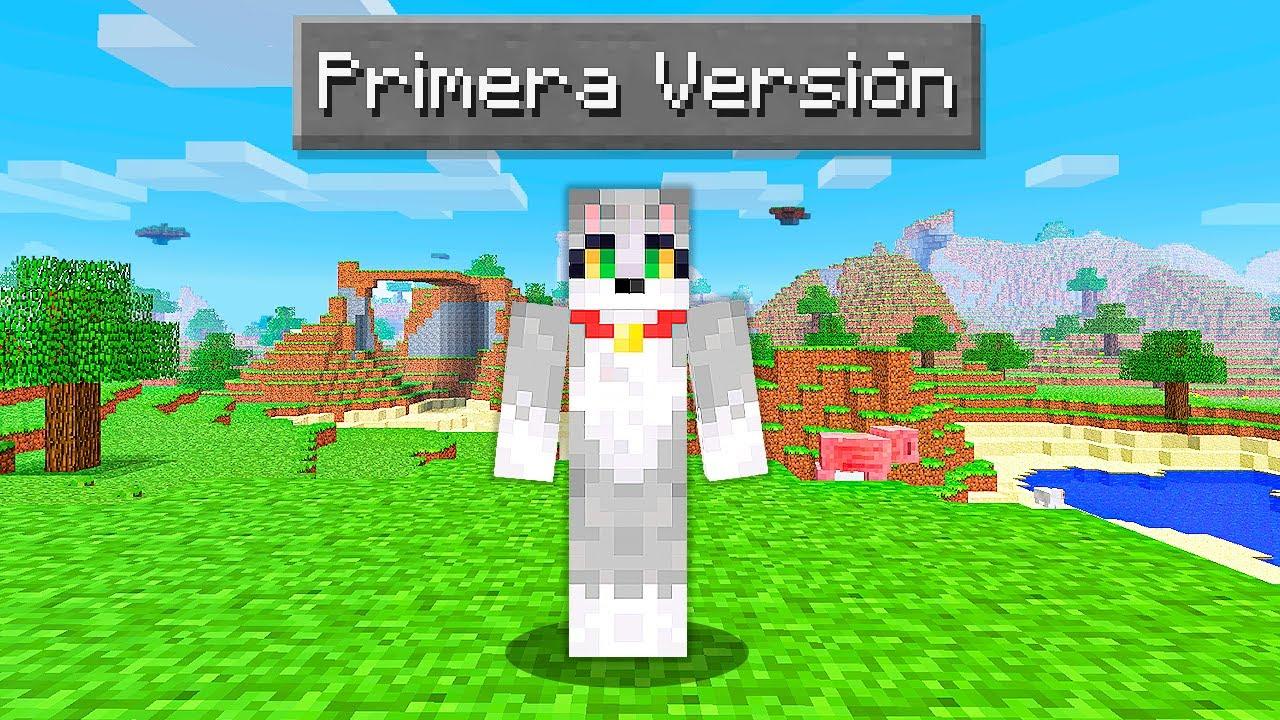 Paso Minecraft pero en la PRIMERA VERSIÓN 🤯👴