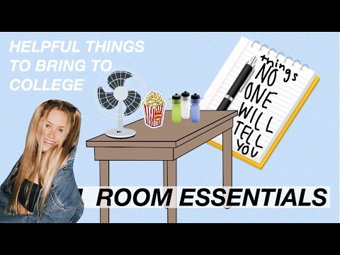 DORM ROOM ESSENTIALS (this is actually helpful)