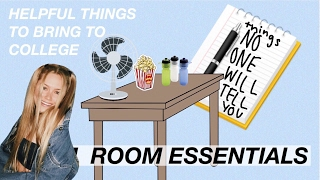 DORM ROOM ESSENTIALS (this is actually helpful) thumbnail