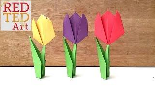 Easy Paper Tulip Origami Flowe…