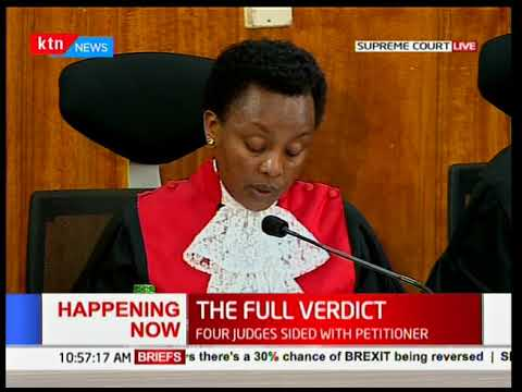 Deputy Chief Justice, Philomena Mwilu on transmission of results [Part 1]