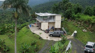 Living In Shipping Container Home Off-the-grid In Puerto Rico