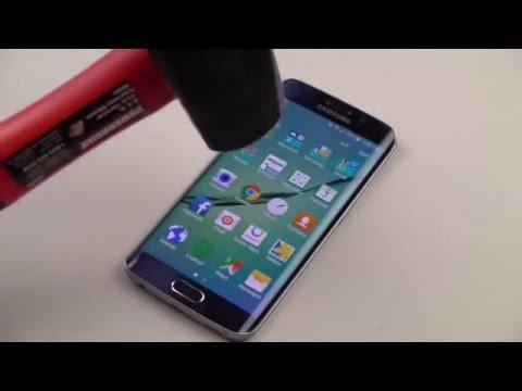 Samsung S6 -Lihatlah di test dengan palu  Samsung S6 tetap menyala