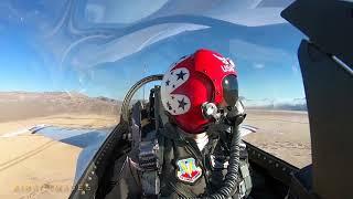 Great USAF Thunderbird Opposing Solo Cockpit Video