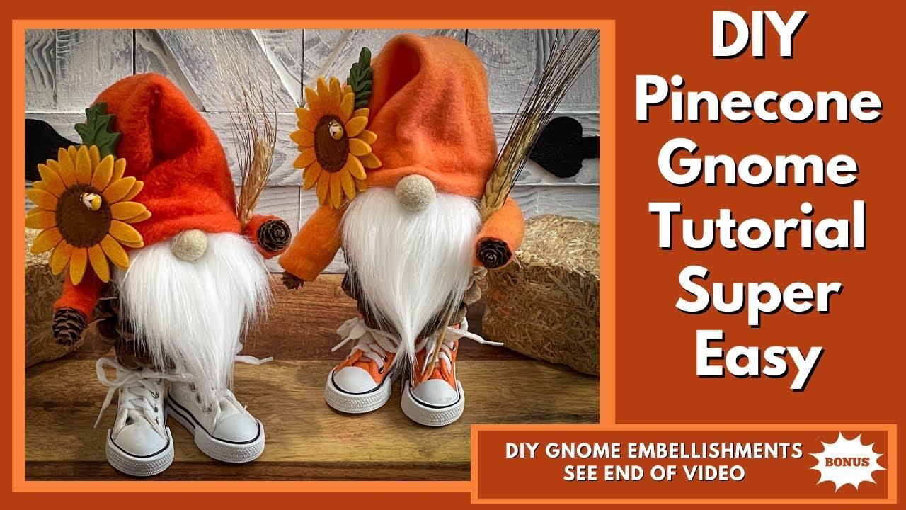 Download DIY Pinecone Gnome Tutorial/No Sew Gnome/Fall Gnome/Thanksgiving gnome