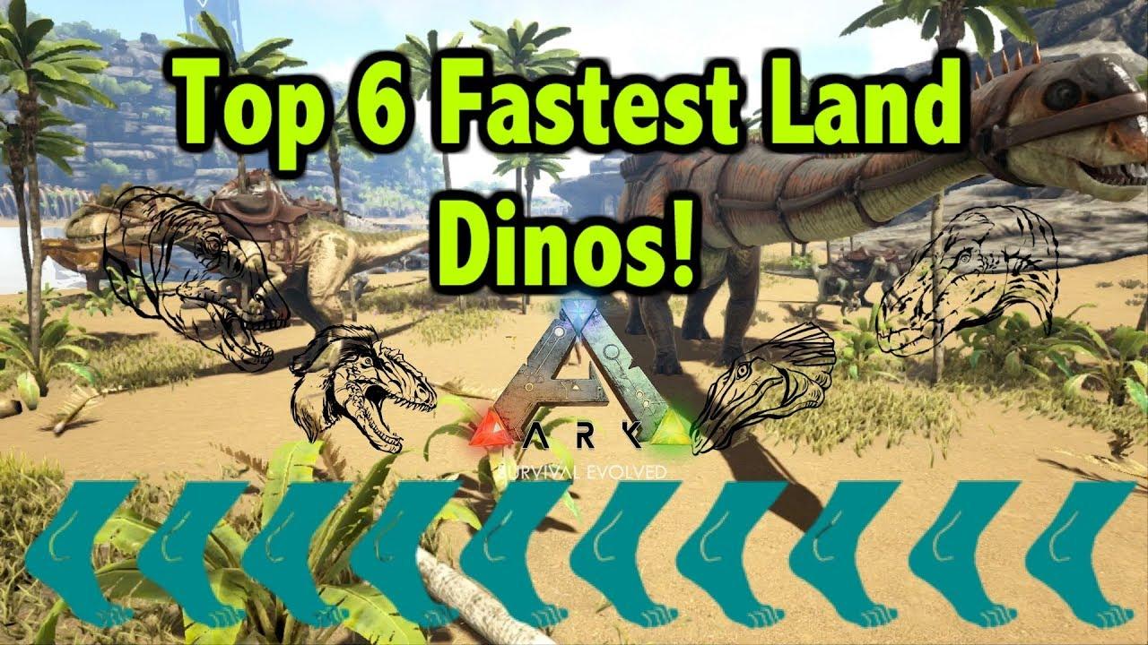 e47772e8e2 Top 6 Fastest Land Dinosaurs In Ark Survival Evolved! - YouTube