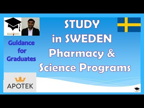 Study in Sweden, Programs in Pharmacy and Science, Application Procedure and Required Documents