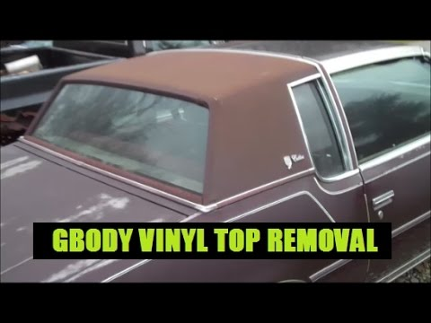 Classic G Body Garage Vinyl Top Removal Explained Youtube