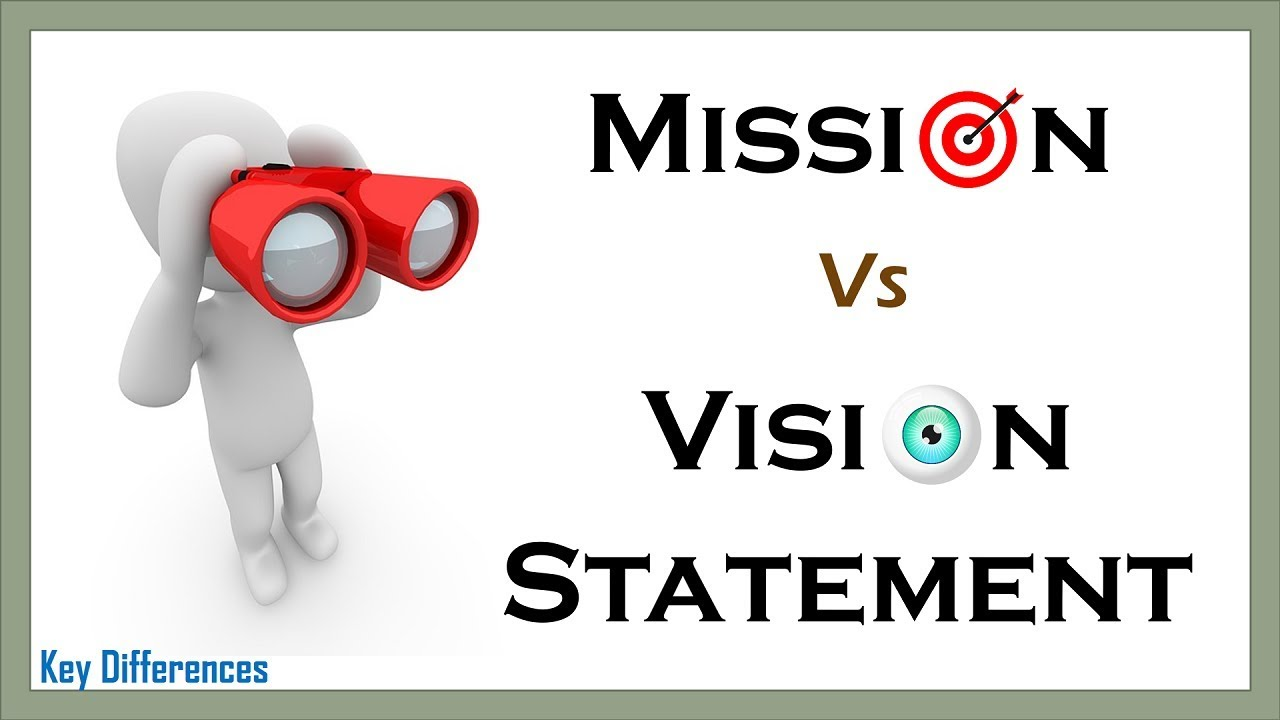 Mission Statement Vs Vision Statement Definition Examples And Comparison Chart Youtube