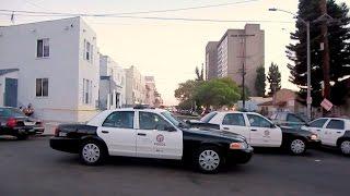 Полиция Лос-Анджелеса в районе мексиканской банды