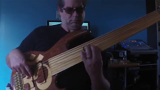 caramel 7 string fretless bass cover