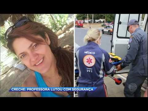 Professora de creche em Janaúba (MG) tenta salvar crianças de homem que ateou fogo