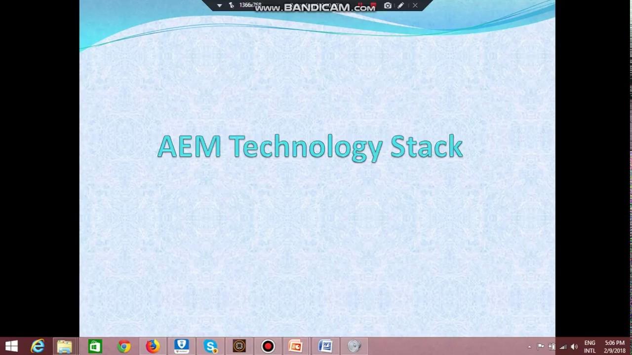 3/50 OSGI, JCR , Sling Frameworks in AEM / Technology Stack