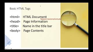 Important HTML TAGS || Every UI Automation QA must know