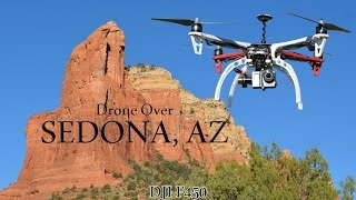 Flying Drone Over Sedona, Arizona DJI F450 Quadcopter
