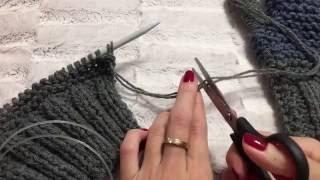 Вяжем варежки спицами видеоурок часть 1