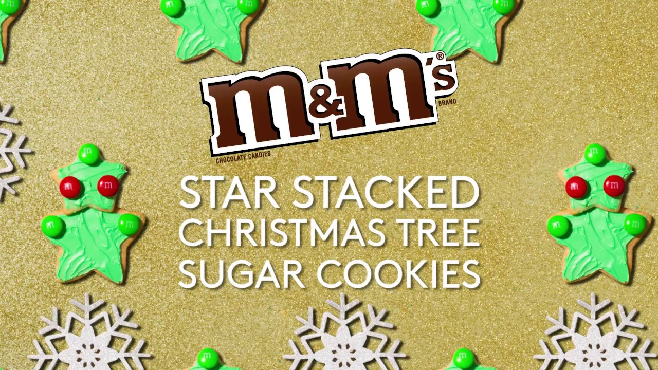 M M S Holiday Star Stacked Tree Cookies