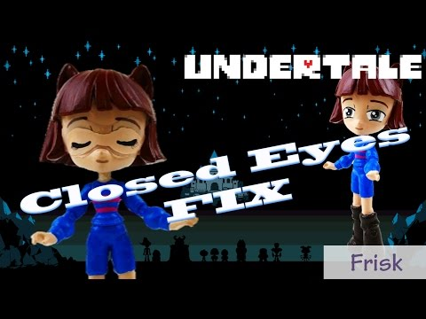 Undertale Frisk Eyes Closed Custom Doll Hack Tutorial | Evies Toy House