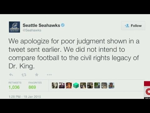 Should the Seahawks be flagged for MLK tweet?