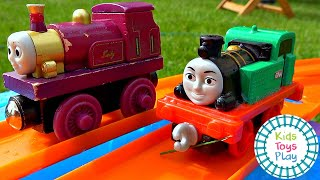Thomas and Friends Mystery Wheel Slip 'n Slide Races Compilation