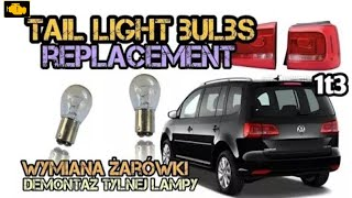 How to replace tail light bulbs on VW Touran 11-15 - Demontaż tylnej lampy VW Touran 1t3 thumbnail