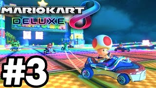 Flower Cup INSANE 3 STARS..!!! | Mario Kart 8 Deluxe Part 3 | Switch Gameplay Walkthrough