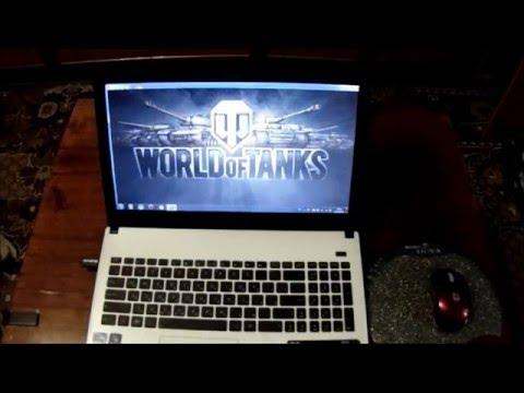 Игры World Of Tanks, Minecraft и ASUS X501A