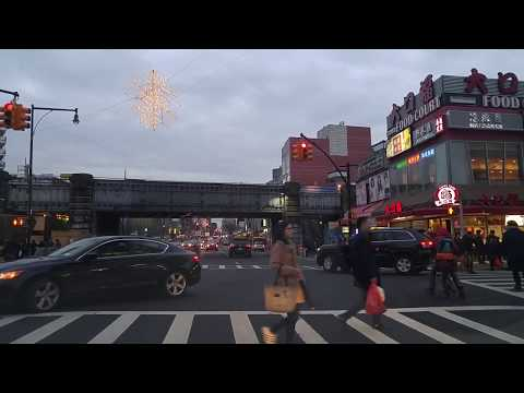 Driving from East Elmhurst to Flushing in Queens,New York