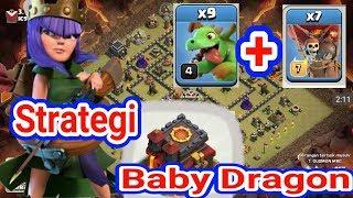 Gambar cover New Strategi TH 10 Baby Dragon Attack plus Balon Max, Serangan TH 10 CLASH OF CLANS Indonesia