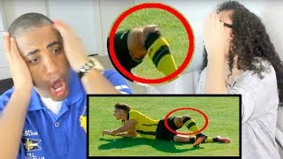 Top 10 Horrific Injury In Football • OUCH! REACTION
