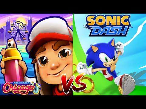 Subway Surfers JIA UNICORN VS Sonic Dash Крим! Соревнование