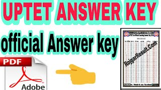 official answer key of uptet 2018
