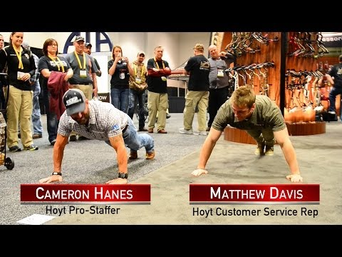 Push-Up contest with Cameron Hanes and Matthew Davis