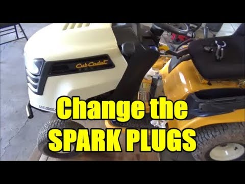 Cub Cadet LTX 1042 KW | How to Change the Spark Plugs