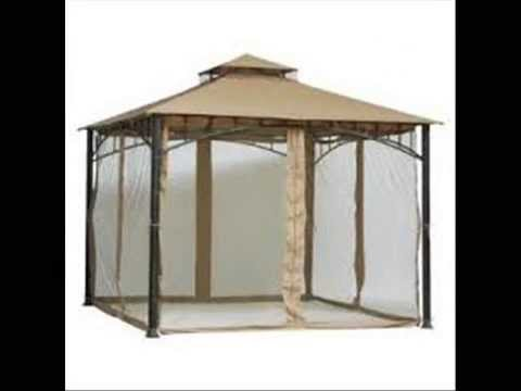 & Outdoor Patio Gazebo Mosquito Netting - YouTube