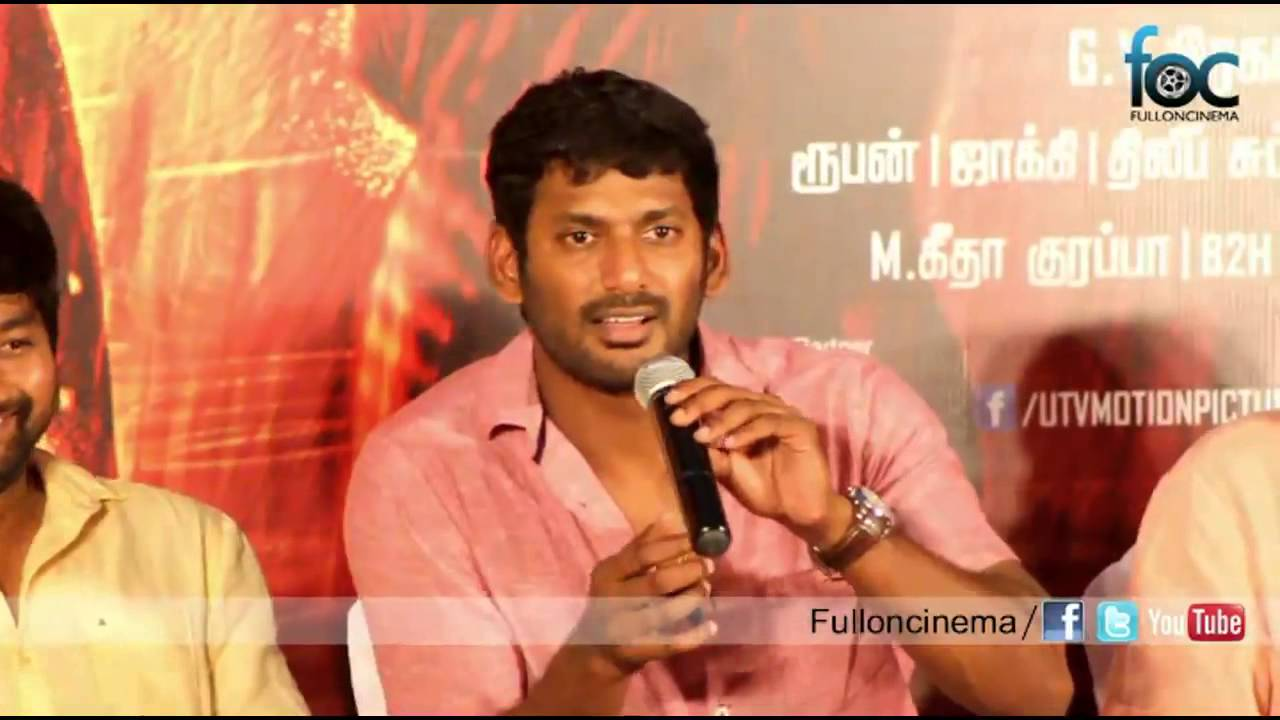 vishal clarifies lip lock scene with laxmi menon in naan ... Naan Sigappu Manithan Lakshmi Menon Lip Lock