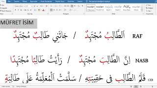 İst Üni İLİTAM Arapça 1 / 3. Ünite İRAB / Ders 1