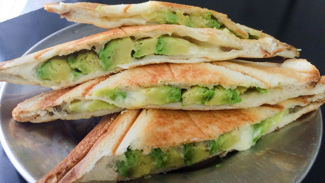 Avocado And Cheese Healthy Breakfast Sandwich Maker Recipes