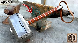 Turning an Old ANVIL into a Heavy THOR'S HAMMER