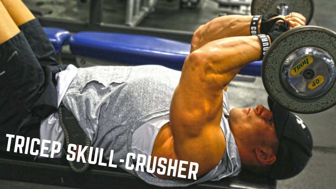 Tricep Muscle Growth Skull Crushers Youtube