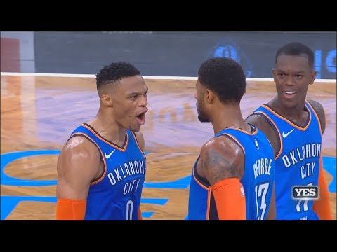 Paul George Hits GAME WINNER VS NETS & Impresses Russell Westbrook After 47 Pts! Thunder vs Nets