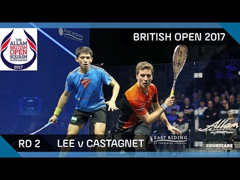 Squash: Lee v Castagnet - British Open 2017 Rd 2 Highlights