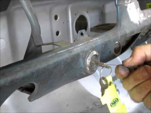 Vintage Ford Bronco >> Ford ignition switch removal - YouTube