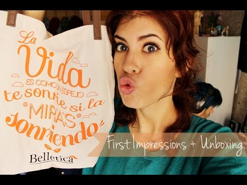 [Unboxing + First Impressions] Belletica cosmetics.
