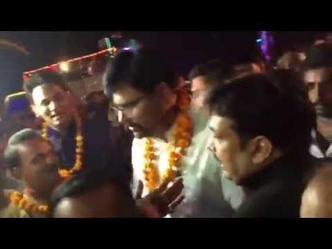 MLA Abhay singh in barat with Anshu mishra