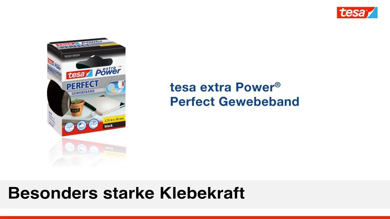 Favorit Wetterfestes Gewebeband tesa extra Power Perfect - YouTube KF09