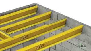 Steico Joist пример монтажа балок перекрытия(, 2014-08-14T23:01:54.000Z)
