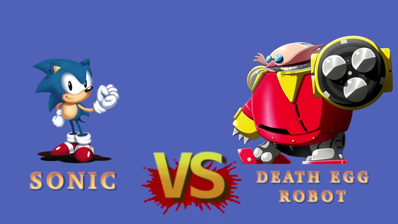 Sonic vs Death Egg Robot with healthbars